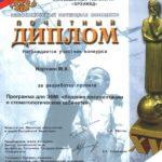 Диплом участника конкурса Инновационный потенциал молодежи-2012 Нарчаева М.А.