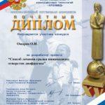 Диплом участника конкурса Инновационный потенциал.