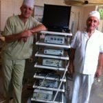 После первой лапароскопической холецистэктомии в больнице г.Дагогни (2012г.)